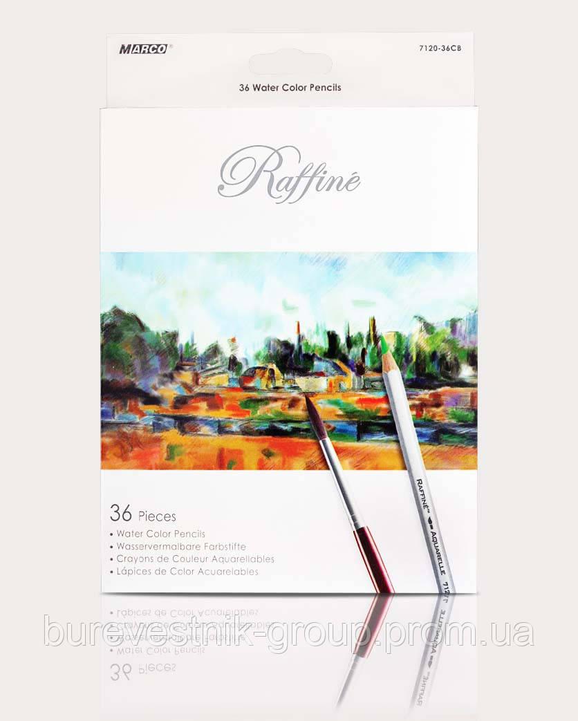 """Цветные акварельные карандаши Marco """"Raffine"""" 36цв"""