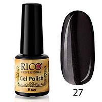 Гель-лак Rico Professional № 27, Черный с микроблеском, 9 мл