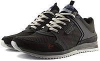Мужские кроссовки весенние, перфорированные из натуральной кожи.