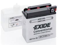 Аккумулятор мото EXIDE 6V 11AH 80A 6N11A-1B [122X62X131], фото 1