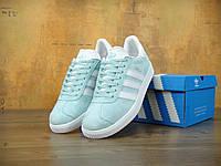 Кроссовки Adidas gazelle Gazelle Ice Mint (мятные). Живое фото. Топ качество! (адидас газель)