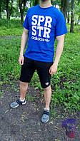 Спортивный костюм мужской комплект шорты и футболка Adidas SPR STR Адидас