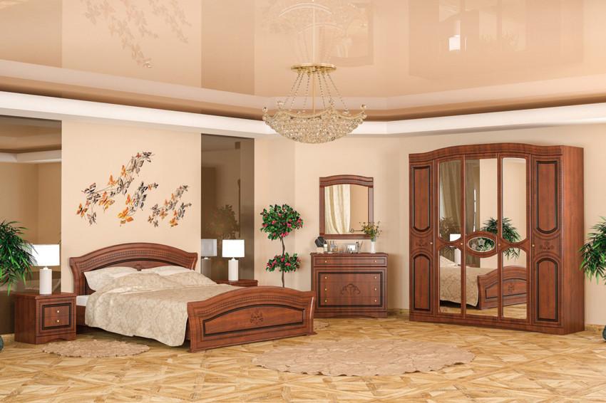 Спальня Милано с 5-ти дверным шкафом. Мебель-Сервис