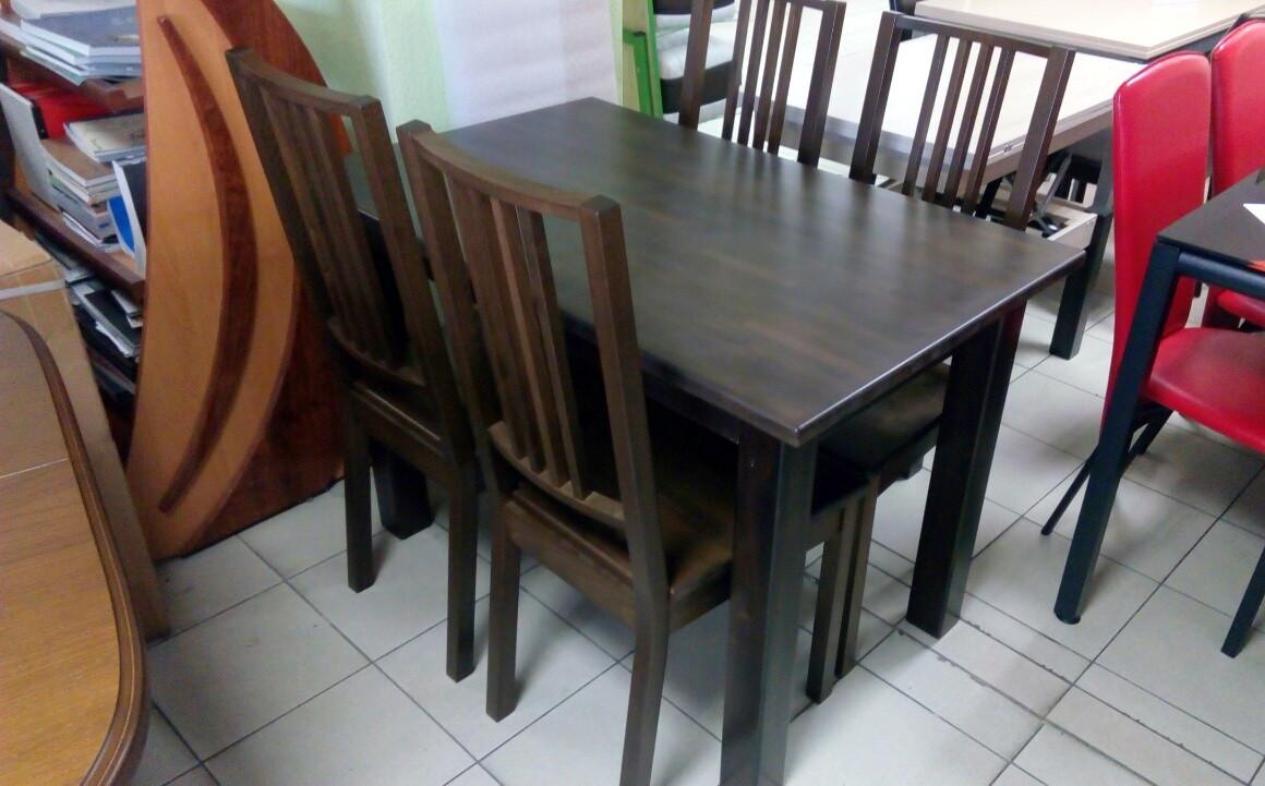Стол обеденный нераскладной Степ  Fusion Furniture, цвет на выбор