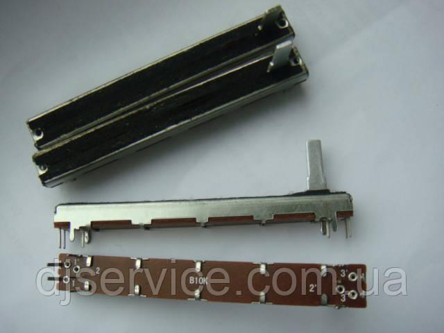 Фейдер длиной 75мм b10kx2  3x3ножки