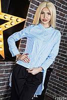 Женская асимметрическая блузка в полоску