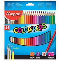 Цветные карандаши MAPED Color'Peps 24цв.
