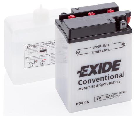Аккумулятор мото EXIDE 6V 13AH 105A B38-6A [119X83X161]