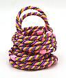 Резинка для волос цветная с переплетами, фото 8