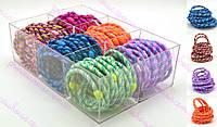 Резинка для волос цветная с переплетами