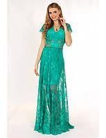 Нежное кружевное  платье в пол. Три элемента