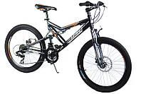 Горный спортивный велосипед 24 дюймов Azimut Scorpion G-FR/D-1(оборудование SHIMANO)серый ***