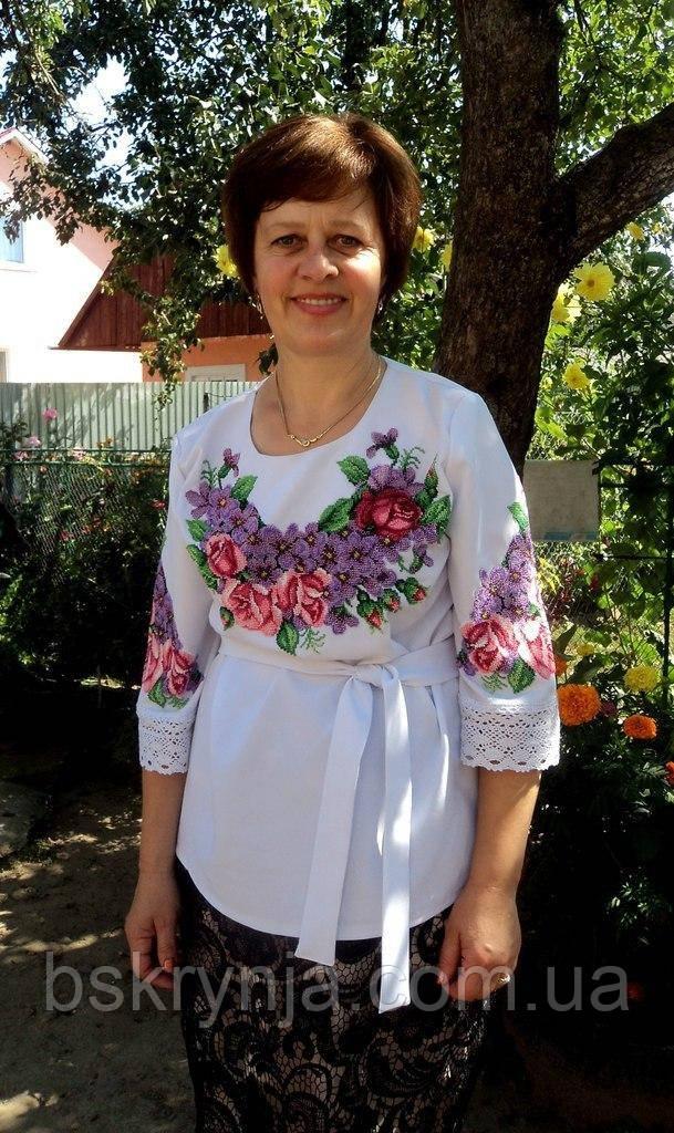 Заготівля жіночої сорочки для вишивки нитками/бісером БС-28