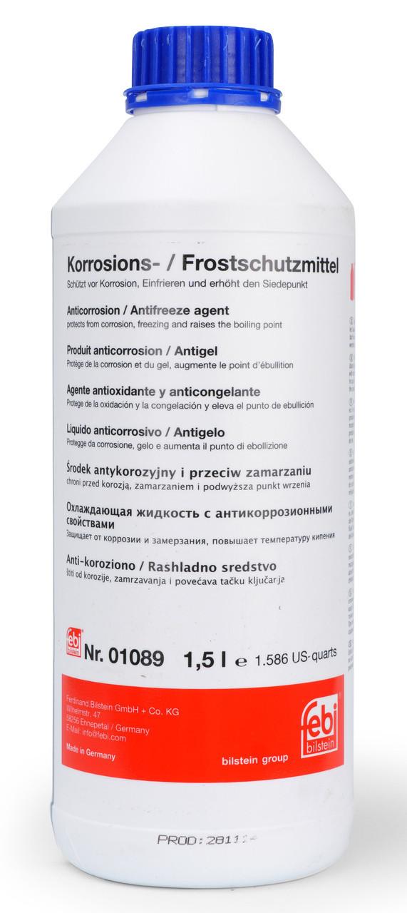 Антифриз Febi концентрат синий (G11) Korrosions-Frostschutzmittel (-80С) 1,5л.
