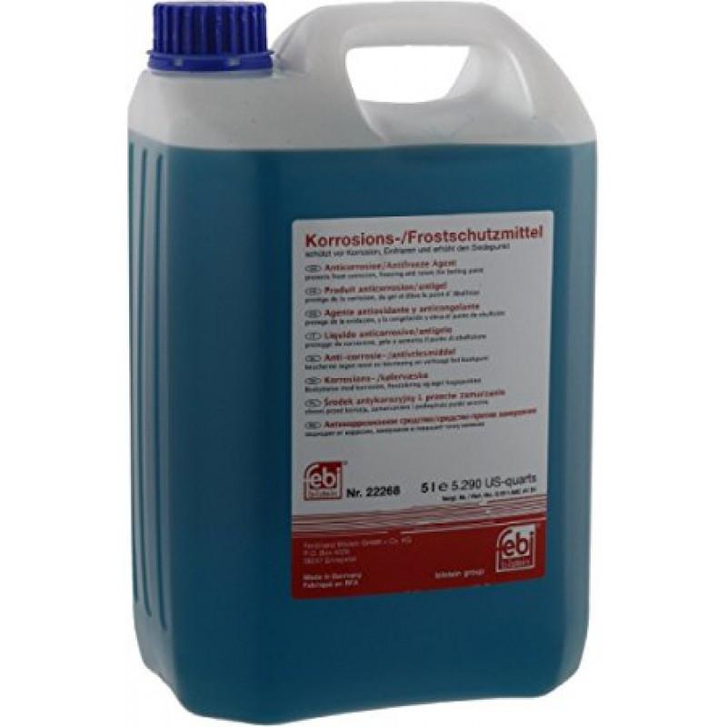"""Антифриз синий (G11) """"Korrosions-Frostschutzmittel"""", (-80С) 5л."""