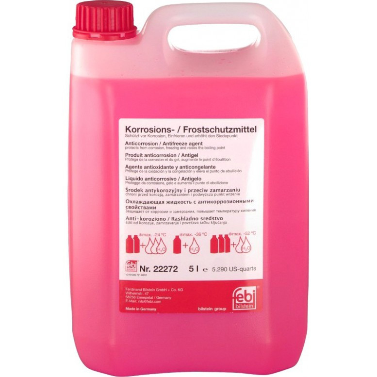 "Антифриз красный (G12) ""Korrosions-Frostschutzmittel"", (-80С) 5л."