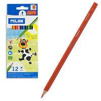 Цветные карандаши Milan 12цв