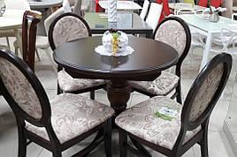 Стол обеденный круглый Анжелика Fusion Furniture, цвет орех, орех итальянский, лесной орех