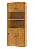 Книжный шкаф 4д1ш Валенсия клен