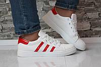 Кроссовки белые в стиле адидас, фото 1