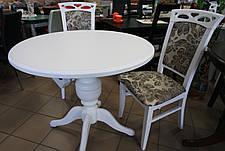 Стол обеденный   круглый   Анжелика   Fusion Furniture, цвет  белый, фото 3