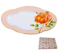 Блюдо овальное 25 см Китайская роза SNT 9703