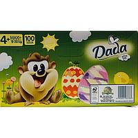 Подгузники Dada Мега Пак 4+ Plus (Maxi 9-20kg) 100шт (подгузники Дада)