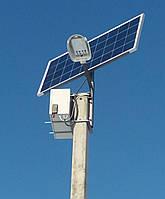 Система автономного уличного освещения на основе солнечных модулей малая