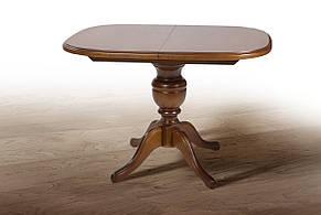 Стол обеденный деревянный на одной ножке  Эмиль  Fusion Furniture, цвет  светлый орех, фото 2