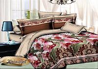 Двуспальный комплект постельного белья евро 200*220 хлопок  (7082) TM KRISPOL Украина