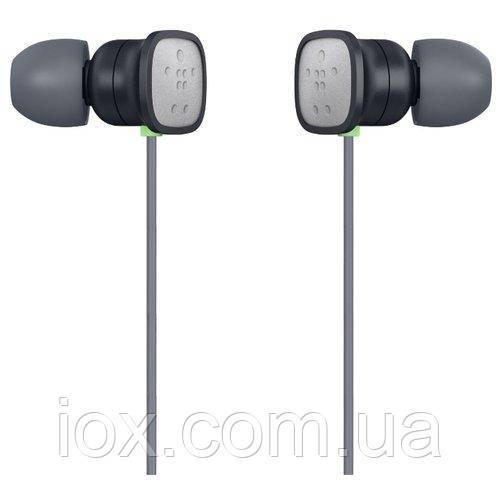 Черные с серебристыми вставками наушники-вкладыши с микрофоном Belkin PureAV 006