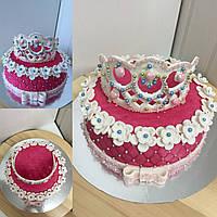 Торт корона из мастики под заказ