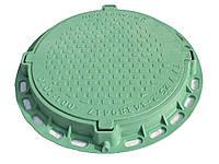 Люк канализационный Садовый полимерный зеленый