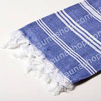 Полотенце для сауны, парной Люкс 180*90см. Синий