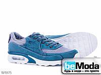 Модные мужские кроссовки Violeta Petrol из текстиля с необычными вставками  голубые