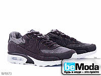 Модные мужские кроссовки Violeta Siach из текстиля с необычными вставками черные