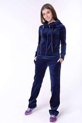 Женский стильный бархатный спортивный костюм Синий  купить в Харькове,  цена. спортивные костюмы в интернет-магазине