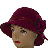 Шляпа фетровая F16007 бордовый