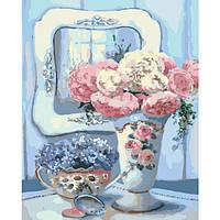 Картины по номерам / коробка. Цветы. Бирюзовый натюрморт