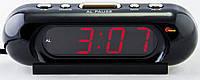 Часы сетевые VST 716-1 красные, часы электронные с красной светодиодной подсветкой, сетевые часы с будильником