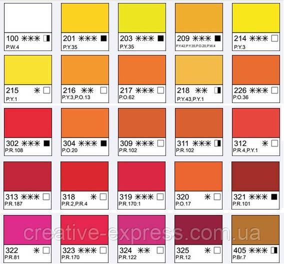Фарба акварельна, Фіолетово-рожева, 2,5мл, Білі Ночі