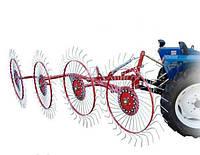 Грабли-ворошилки тракторные Заря Украина, 4 секции, оцинкованная польская спица на квадратной трубе