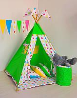 Детский игровой вигвам, палатка, шатер с корзиной, фото 1