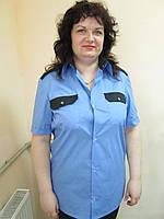 Рубашка для охранника на пуговицах