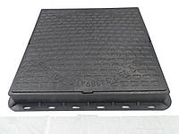 Люк канализационный квадратный полимерный черный