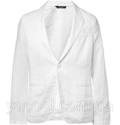 958037fda2a1 Модный белый костюм льняной пиджак и брюки. Мужской Свадебный костюм из льна  - Интернет-