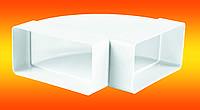Колено горизонтальное для плоских каналов 90 градусов 55х110