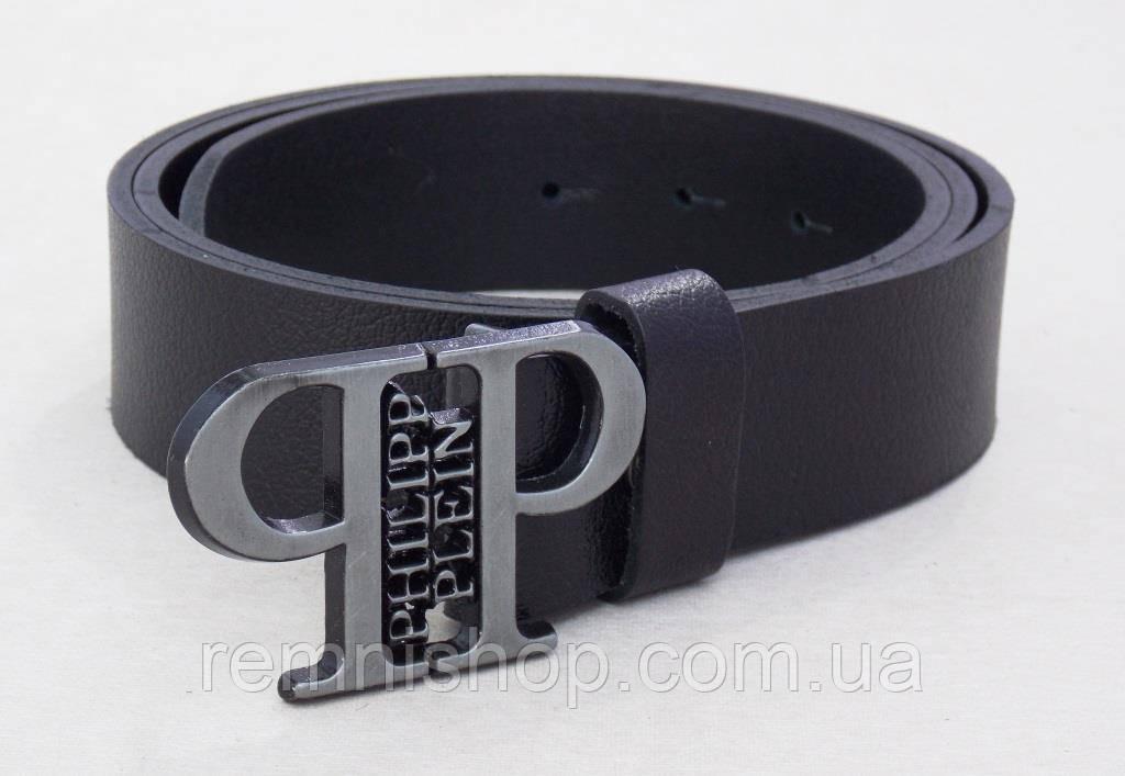 Кожаный ремень Philipp Plein черный