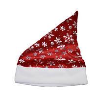 Детский новогодний колпак со снежинками, плюш