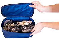 Прямоугольный органайзер для косметики/белья, синий